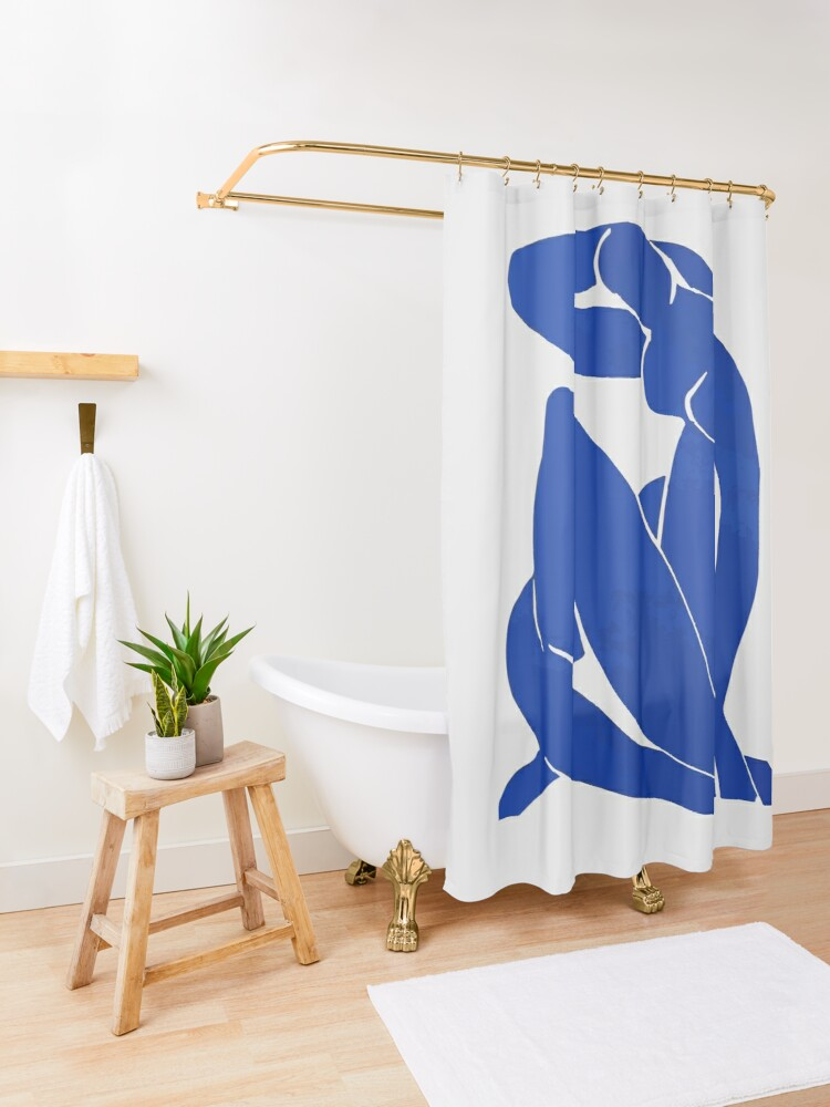 Alternate view of Henri Matisse - Blue Nude 1952 - Original Artwork Reproduction Shower Curtain
