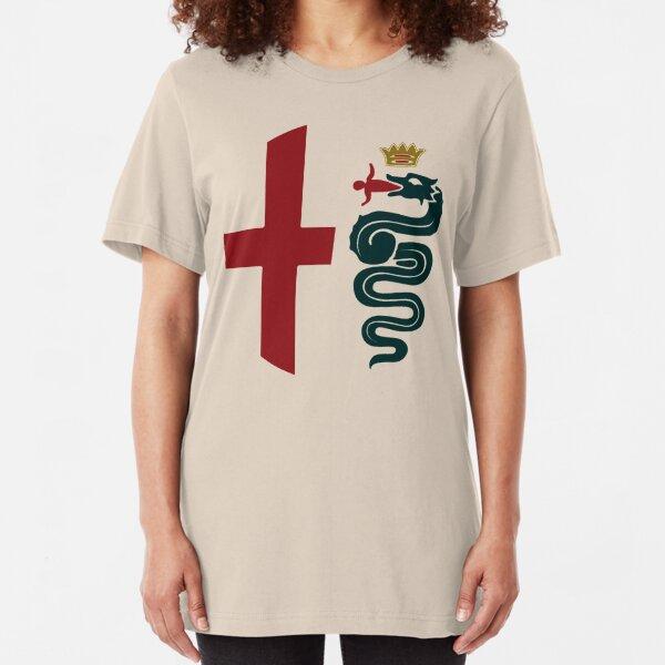 Alfa Romeo classic biscione / cross Slim Fit T-Shirt