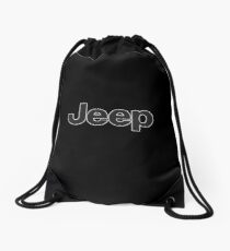 Jeep Classic sticker Drawstring Bag