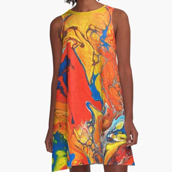 Abstrait  A-Line Dress