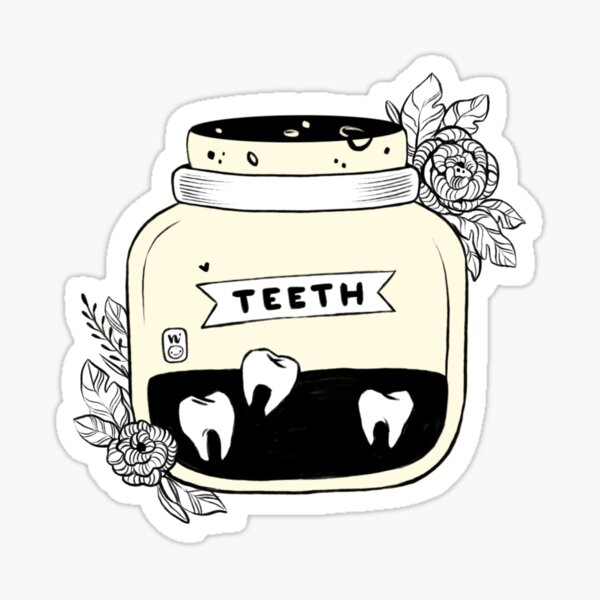 Jar of Teeth Sticker