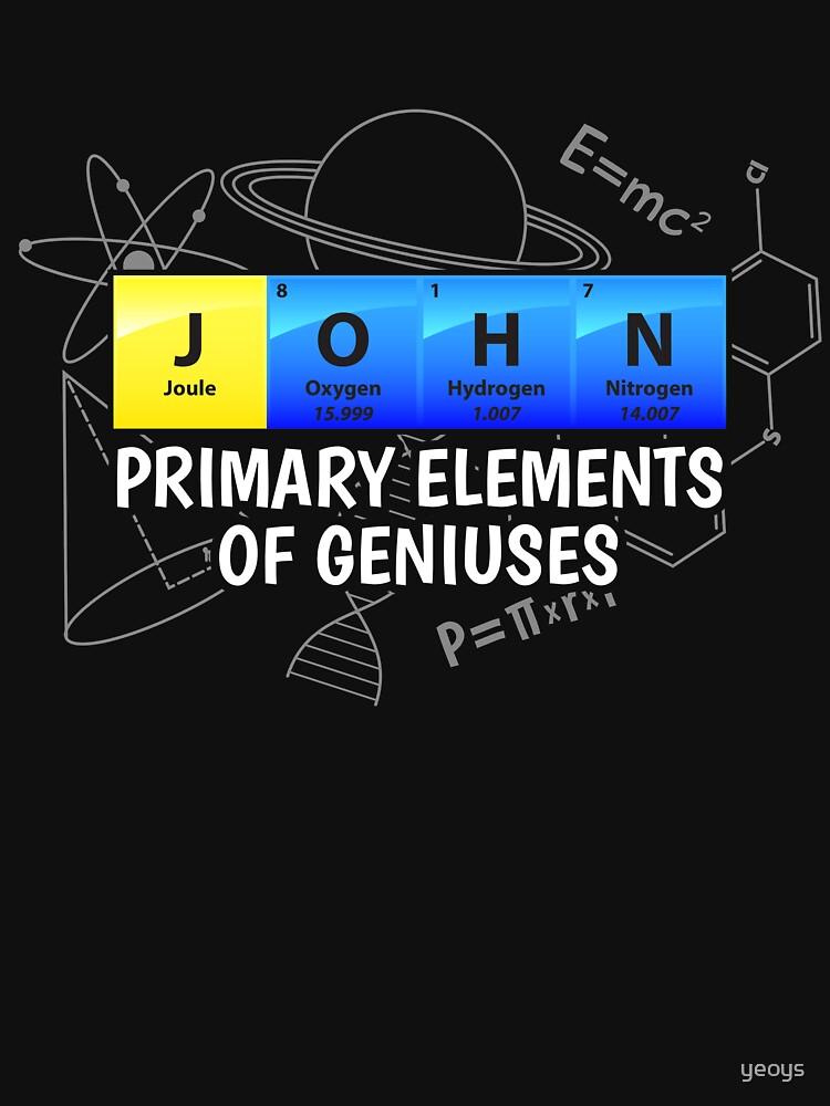 John Primary Elements Of Geniuses - Chemistry Quotes Gift von yeoys