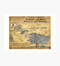 Beam of the Bear, Path of the Turtle Art Print