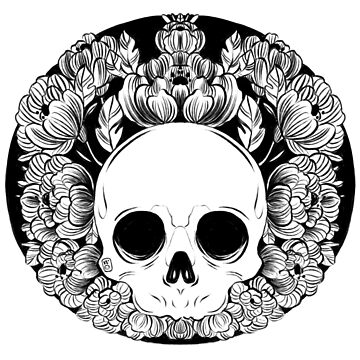 Flower Skull by nykiway