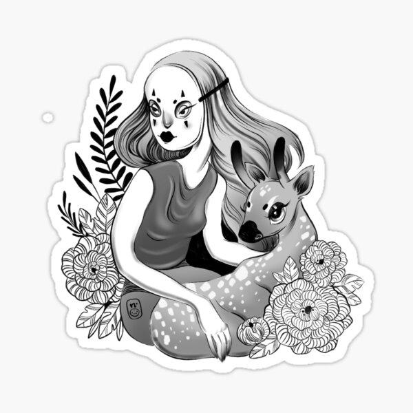 Masked Friend of a Faun Sticker