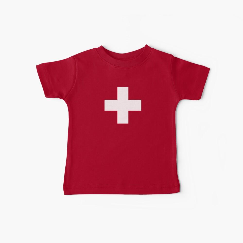 Swiss Flag Baby Onesie Jumpsuit Pyjama Clothing - Schweizer Baby T-Shirt