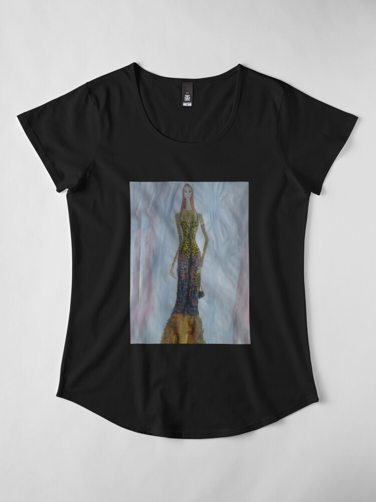 Alternate view of Royal Beauty Glam Gown (Fashion Illustration) Premium Scoop T-Shirt