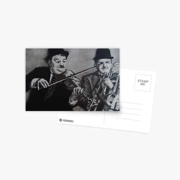 LAUREL & HARDY..PENCIL ON PAPER Postcard