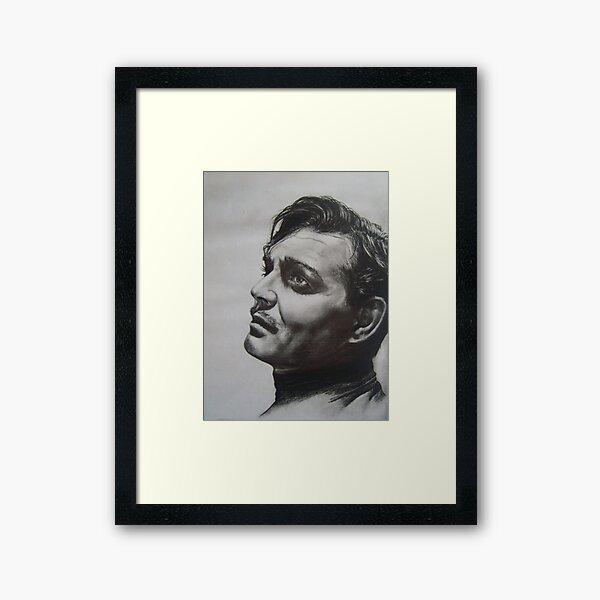 CLARK GABLE..PENCIL ON PAPER Framed Art Print