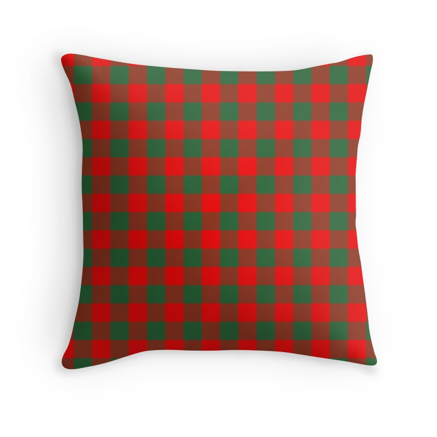 Jumbo Holly Red and Evergreen Green Christmas Country Cabin Buffalo Check