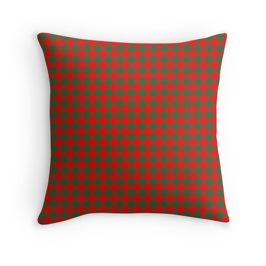 Medium Holly Red and Evergreen Green Christmas Country Cabin Buffalo Check