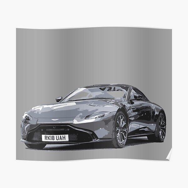 Aston Martin Vantage 2018 Poster