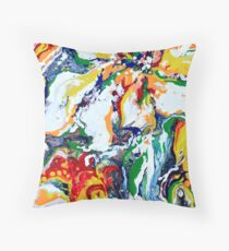 Abstrait multicolor flowers Floor Pillow