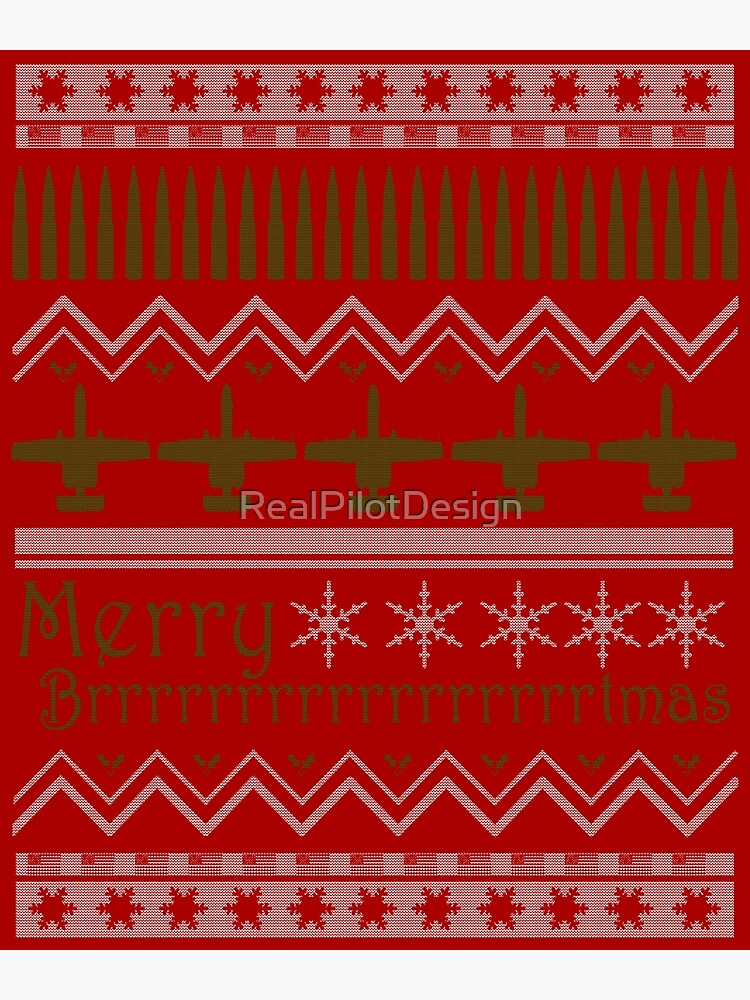 Ugly Christmas Sweater Design.Merry Brrrrrrrtmas A 10 Warthog Ugly Christmas Sweater Design Canvas Print