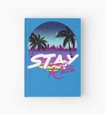 Stay Retro - Miami Vice Synthwave Nights  Hardcover Journal