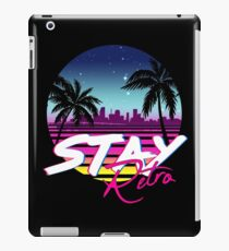 Stay Retro - Miami Vice Synthwave Nights  iPad Case/Skin