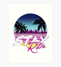 Stay Retro - Miami Vice Synthwave Nights  Art Print