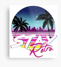 Stay Retro - Miami Vice Synthwave Nights  Metal Print