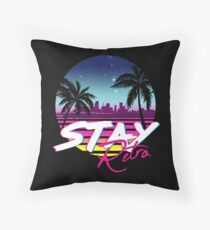 Stay Retro - Miami Vice Synthwave Nights  Floor Pillow