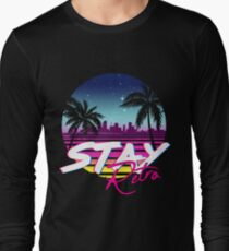 Stay Retro - Miami Vice Synthwave Nights  Long Sleeve T-Shirt
