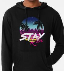 Stay Retro - Miami Vice Synthwave Nights  Lightweight Hoodie