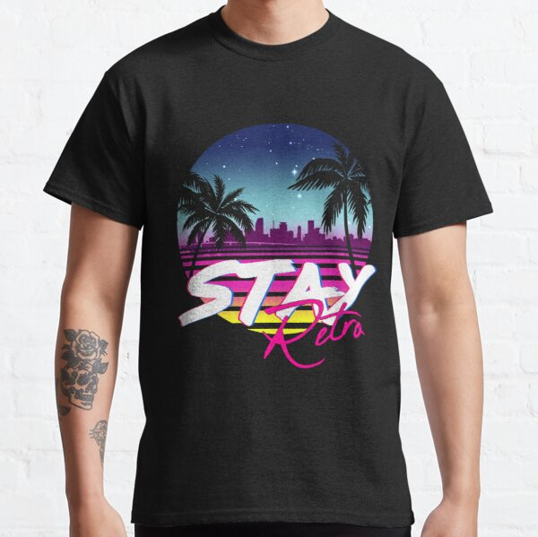 Stay Retro - Miami Vice Synthwave Nights  Classic T-Shirt