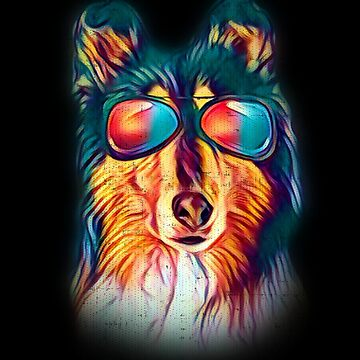 Collie Neon Dog Sunglasses by jzelazny
