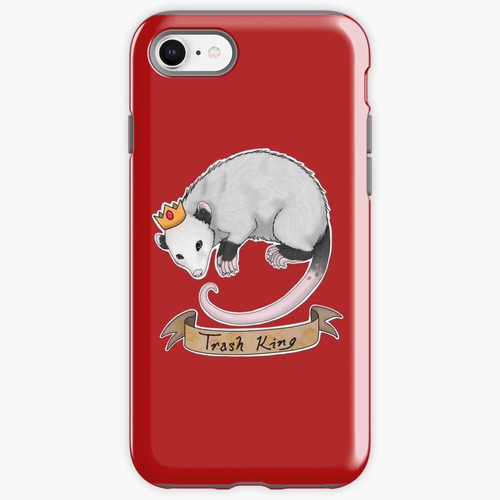 Trash King Opossum Possum iPhone Case & Cover