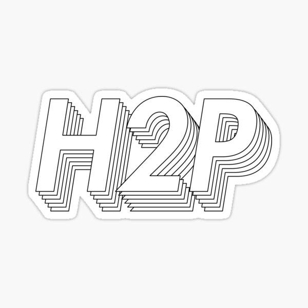 White Retro H2P Sticker