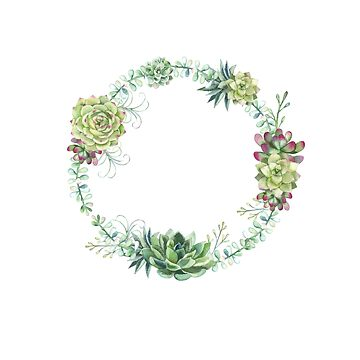 Succulents Wreath by toryprichard