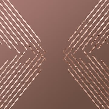 Rose Gold Modern Geometric Lines by TeeVision