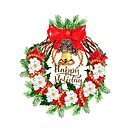Happy Holidays Wreath by purplesensation