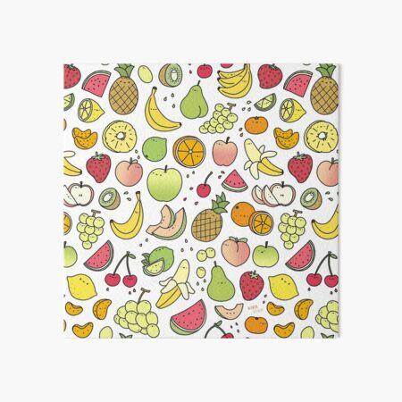 Juicy Fruits Doodle Art Board Print