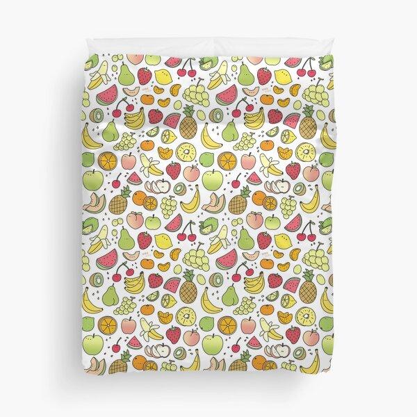 Juicy Fruits Doodle Duvet Cover