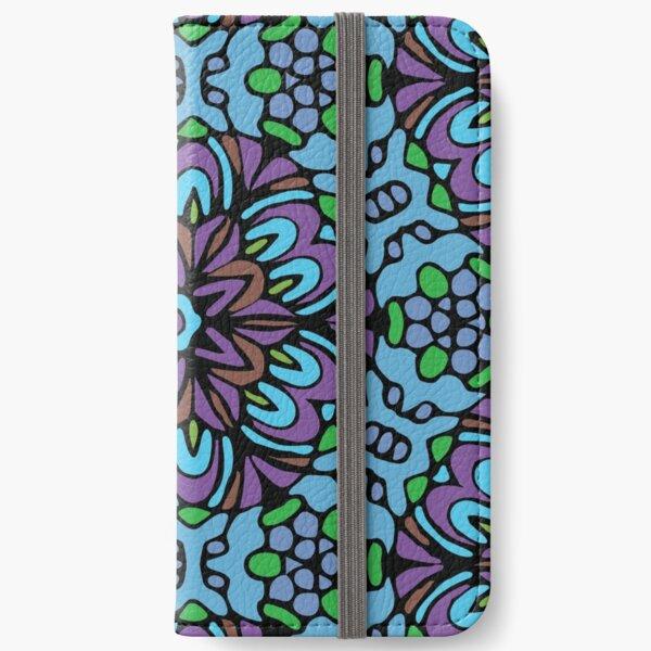 Blue Prince Retro Flower iPhone Wallet