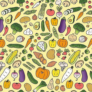 Veggie Friends Doodle de KiraKiraDoodles