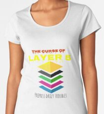 The Curse of the fifth level - Always yellow in Illustrator Women's Premium T-Shirt