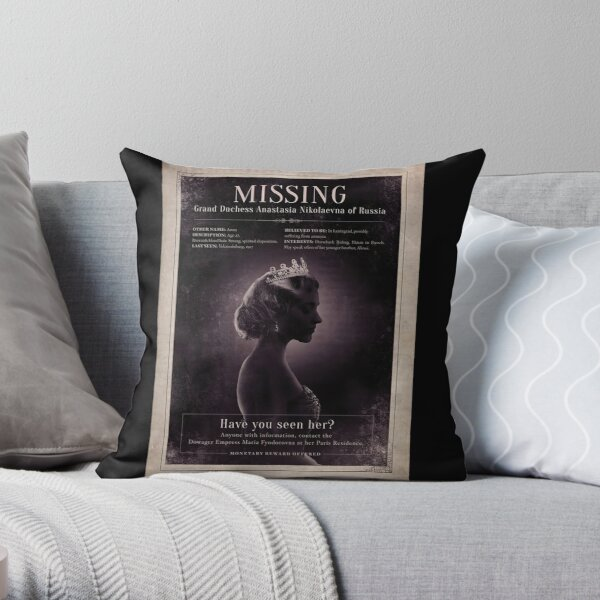 Anastasia Broadway: Missing Poster Throw Pillow
