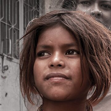 Wisdom and poverty behind a subtle smile by indiafrank