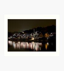 Boat House Row, Philadelphia PA Art Print