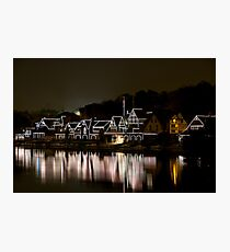 Boat House Row, Philadelphia PA Photographic Print