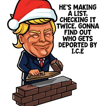 Donald Trump Santa Claus Funny Christmas Build The Wall by TeeVision