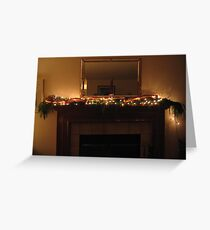 Tiny Lights and Gold Ribbon Greeting Card