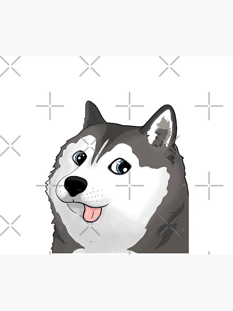 siberian husky doge / moonmoon meme by sivelobanova