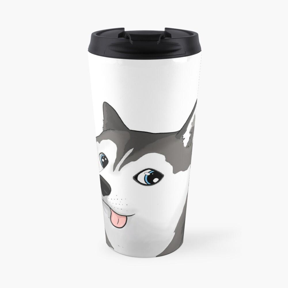 siberian husky doge / moonmoon meme Travel Mug