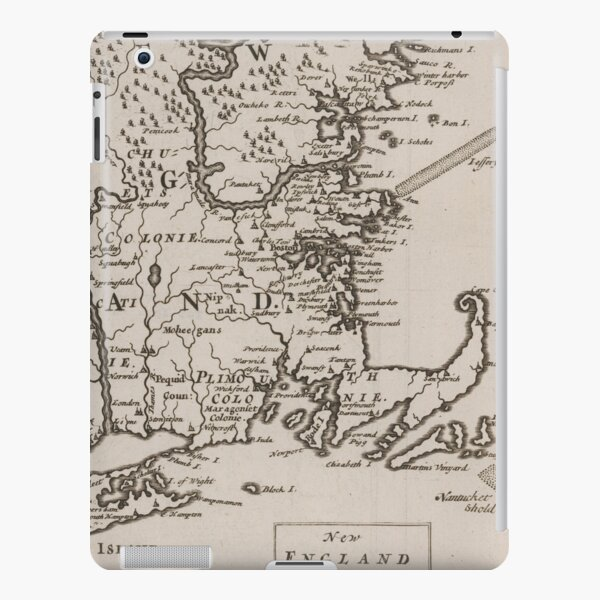 Vintage Map of New England (1681) iPad Snap Case