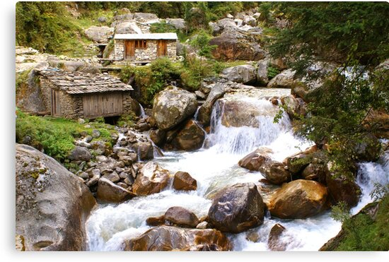 """The """"Milk River"""" in Nepal by Betsy  Seeton"""