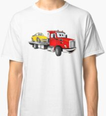 Red Tow Truck Flatbed Cartoon Classic T-Shirt