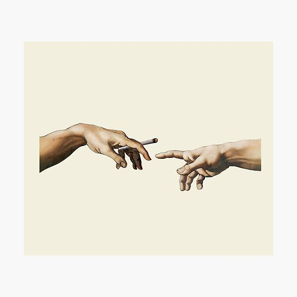 Joint pass - The Creation of Adam Photographic Print