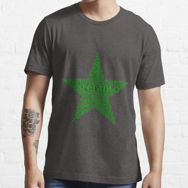 Stelforma Vortnebulo - Star-shaped Word Cloud in Esperanto Essential T-Shirt